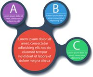 Metaball infographic elements. Vector. Stock Photography