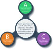 Metaball infographic elements. Vector. Royalty Free Stock Images