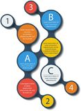 Metaball infographic elements. Vector. Stock Image