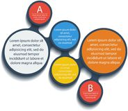 Metaball infographic elements. Vector. Royalty Free Stock Photo