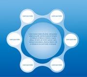 Metaball infographic mallar royaltyfri illustrationer