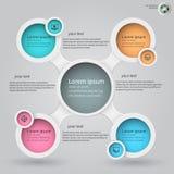 Metaball infographics 4 Royaltyfri Fotografi