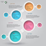 Metaball infographics 2 Royaltyfri Fotografi