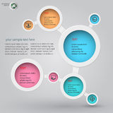 Metaball-infographics 3 Lizenzfreie Stockfotos