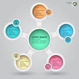 Metaball infographics 5 Royalty Free Stock Photo