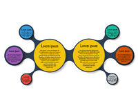 Metaball round diagram infographics Stock Photography