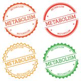 Metabolism badge isolated on white background. Flat style round label with text. Circular emblem vector illustration Stock Photo