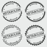 Metabolism insignia stamp isolated on white. Metabolism insignia stamp isolated on white background. Grunge round hipster seal with text, ink texture and Royalty Free Stock Photography