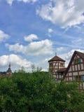 A metade antiga suportou a construção em Creglingen Alemanha Imagem de Stock Royalty Free
