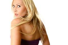 Metade da beleza caucasiano girada Fotos de Stock