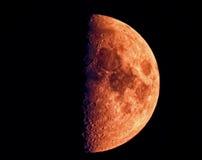 Metade da lua de enceramento Fotografia de Stock