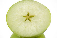 Metade da maçã verde Foto de Stock Royalty Free