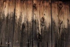 Metade da parede de madeira queimada Imagem de Stock Royalty Free