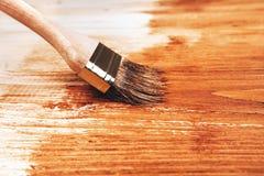 Metade de placas de madeira pintadas Imagens de Stock Royalty Free