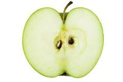 Metade de um Apple verde Fotos de Stock