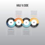 Metade de um lado Infographic Imagens de Stock