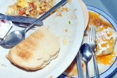 Metade do café da manhã comida Fotos de Stock Royalty Free