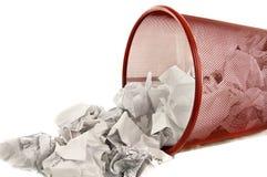 Metade do escaninho de lixo enchida Fotografia de Stock Royalty Free
