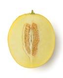 Metade do melão do cantalupo Fotografia de Stock