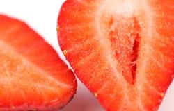 Metade dois da morango Imagem de Stock