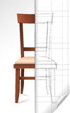Esboço da cadeira Foto de Stock Royalty Free