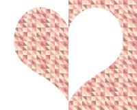 Metade e meio coração fotografia de stock