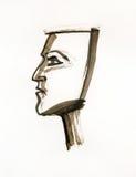 Metade-face ilustração royalty free