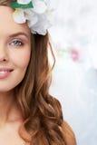 Metade-sorriso Foto de Stock Royalty Free
