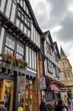 A metade suportou casas em Stratford-em cima-Avon, Inglaterra Imagem de Stock