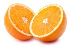 Metades da laranja isoladas Imagens de Stock Royalty Free