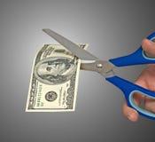 Metafoor van fondsenneerstorting Stock Foto