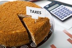 Metafoor voor de betaling van belastingen Stock Fotografie