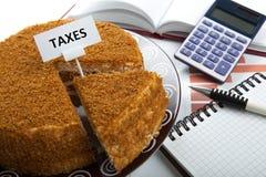 Metafoor voor de betaling van belastingen Royalty-vrije Stock Afbeelding