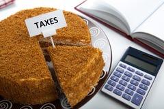 Metafoor voor de betaling van belastingen Royalty-vrije Stock Foto's