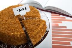 Metafoor voor de betaling van belastingen Royalty-vrije Stock Fotografie