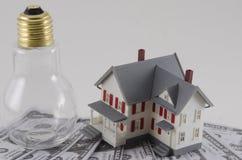 Metafor av energikostnader arkivbilder