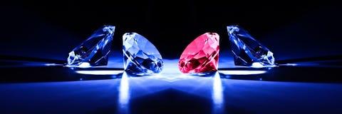 Metafora del primo piano dei diamanti Fotografie Stock Libere da Diritti
