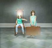 Metafora della figlia e del figlio favorito Fotografia Stock Libera da Diritti
