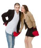 Metafora di divorzio delle coppie Fotografie Stock