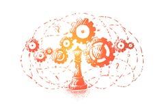 Metafora di pensiero logico, critico ed analitico, di progresso e dell'innovazione royalty illustrazione gratis