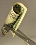 Metafora di riduzione dei costi Fotografia Stock