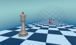 Metafora di scacchi di gelosia e di amore Fotografie Stock Libere da Diritti