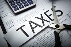 Metafora dla zapłaty podatki Obraz Stock