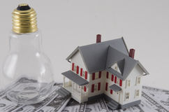 Metafora koszty energii obrazy stock