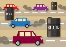 Samochody & olej Fotografia Stock