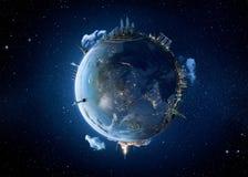 Metaforbild av vår jordplanet Royaltyfri Fotografi