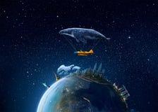 Metaforbild av vår jordplanet Royaltyfri Bild