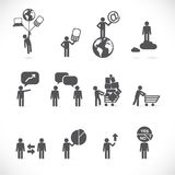 Metafore dell'uomo di affari royalty illustrazione gratis