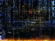 Metaforisch Digitaal Netwerk Royalty-vrije Stock Afbeelding