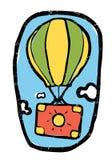Metaforische illustratie, luchtballon, zak Royalty-vrije Stock Afbeeldingen